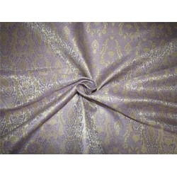 Brocade fabric silver lavender x light gold color 44''wide BRO650[3]