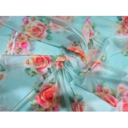 satin organza fabric digital printed
