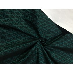 "BROCADE FABRIC Green & Black 44""bro288[2]  by the yard"