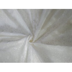 Silk brocade fabric white color 44'' BRO580[2] by the yard
