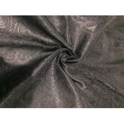 "Silk Brocade fabric JET BLACK   BRO723[1]   44 "" wide  by the yard"