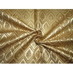 "Silk Brocade fabric gold  x metallic gold     BRO731[1]   44 "" wide  by the yard"