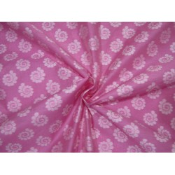 Cotton silk brocade  pink and ivory  44 INCHES wide BRO733[3]  by the yard