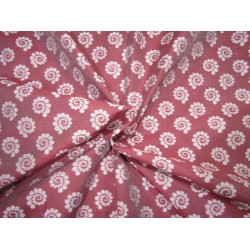 Cotton silk brocade dusky burgundy  44 INCHES wide BRO733[4]  by the yard