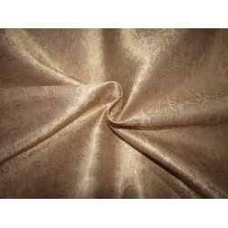 "Silk Brocade fabric  blush  x metallic gold 44"" BRO726[3]  by the yard]"
