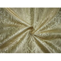 "Heavy Silk Brocade fabric gold and metallic  gold paisleys  BRO729[4]   36 "" wide  by the yard"