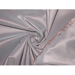 "100% Pure Silk Taffeta Fabric Baby Pink x Blue 60"" 5.45 Cut Length"