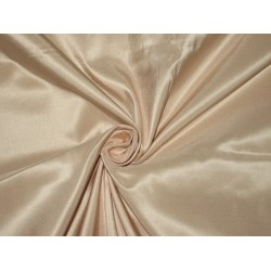 "100% Pure SILK TAFFETA FABRIC Cafe Cream 2.18 yards continuous piece 54"" width"