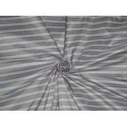 SILK TAFFETA Fabric Light Lilac,Ivory & Black color STRIPES 54""