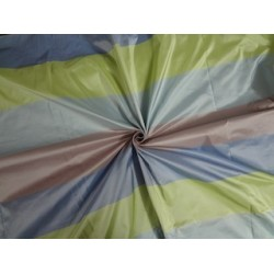 "Silk Taffeta Fabric Multi Color stripes 54""TAF#S36[2]"