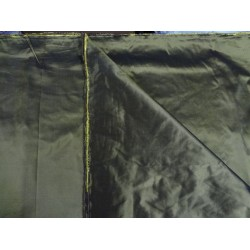 "silk taffeta ""ribbed"" fabric-54"" wide{40 mm}*forest green x yellow-54"" wide sold by the yard"