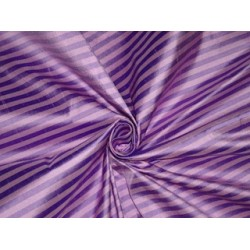 PURE SILK Dupioni FABRIC Pink & Purple color Stripes