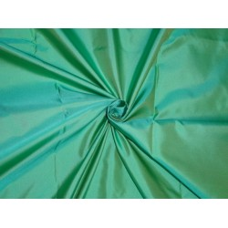 Sea Blue x Sea Green colour Silk Dutchess Satin fabric