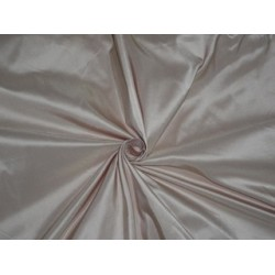 100% Pure SILK TAFFETA FABRIC Light Pink Eggshell color
