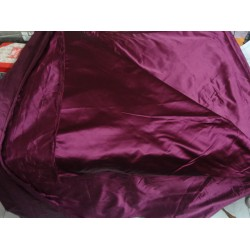 Red Wine colour Silk Dutchess Satin fabric