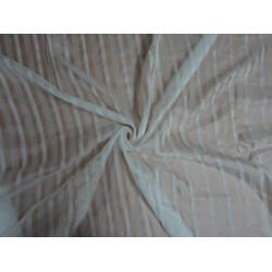Ivory with Stripes Nina Silk fabric