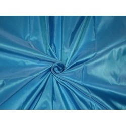 Pure SILK TAFFETA FABRIC Fresh Water Lake Blue color 3.00 yards continuous piece
