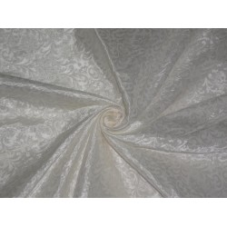 SPUN viscose BROCADE FABRIC Ivory White Color