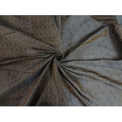 SPUN viscose BROCADE FABRIC Brown & Black Color