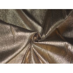 Sheer Gold Glitter silk metalic satin tissue fabric