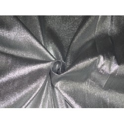 Sheer Silver Glitter silk metalic satin tissue fabric