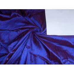 "100% PURE SILK DUPIONI FABRIC eggplant  COLOR 54"" WITH SLUBS*"