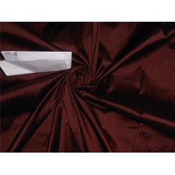 100% PURE SILK DUPIONI FABRIC BURGUNDY X BLACK SHOT COLOR 54""