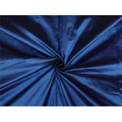 PURE SILK DUPIONI FABRIC DEEP BLUE X BLACK SHOT