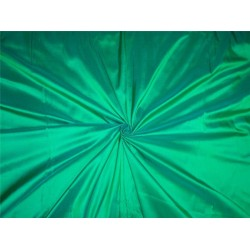 PURE SILK DUPIONI FABRIC PARAKEET X SEA GREEN