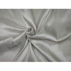 "100% PURE SILK DUPIONI LIGHT WEIGHT 16MOMME FABRIC 44"" silver  [ZARA]"
