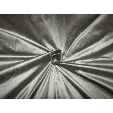 """100% silk dupion 54"""" wide dusty grey 32 momme DUP 271[3]"""