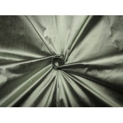 "100% pure silk dupioni fabric mint x black =minty black  color 54"" DUP273"