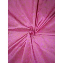 """100% silk  Dupion fabric   PINK with gold   print 40""""  27mm DupPr40[2]"""