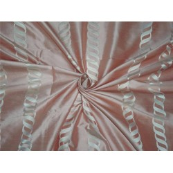 100% silk dupion DUSTY ROSE w/ white jacquard DUPSJ4[1]