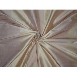 100% silk dupion PEACH AND GOLD stripe 2.25 YARDS DUPS34[4]