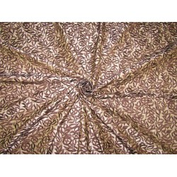100% Silk Dupion Fabric Embroidery Golden Brown x brown color 54''DUP# E54[1]