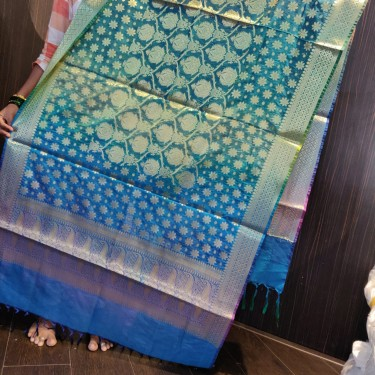 """Brocade multiclor shaded  stole / duppatta 36"""" wide x 2.15 meters long"""