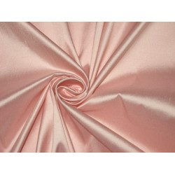 100% Pure SILK Dupioni FABRIC Light Rose Pink 54""