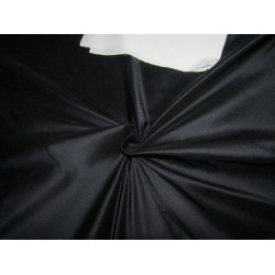 """100% Pure silk dupion  BLACK NAVY 54"""" DUP295  by the yard"""