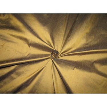 """100% Pure silk dupion  olive brown 54"""" DUP290[2]  by the yard"""