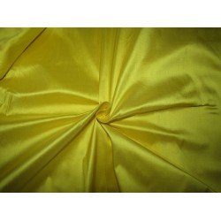 "100% Pure silk dupion bright lemon yellow54"" DUP291[1]  by the yard"