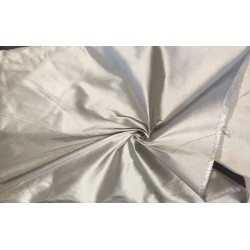 "100% Pure silk dupion grey 54"" DUP289  by the yard"