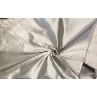 """100% Pure silk dupion grey 54"""" DUP289  by the yard"""