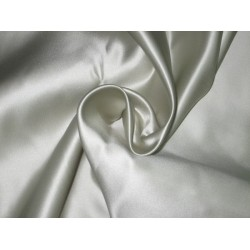 "66 MOMME SILK DUTCHESS SATIN FABRIC Ivory 54"" WIDE"