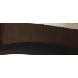 "Scuba Suede Knit fabric 59"" wide- fashion wear brown/black color #21"