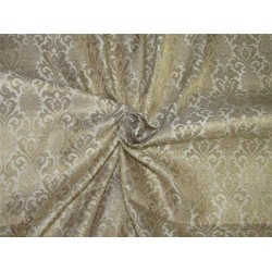 Brocade fabric ivory x metallic gold color 44'' wide Bro624[2]