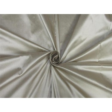 "100% pure silk dupioni fabric silver x brown color 54"" DUP#A[4]"