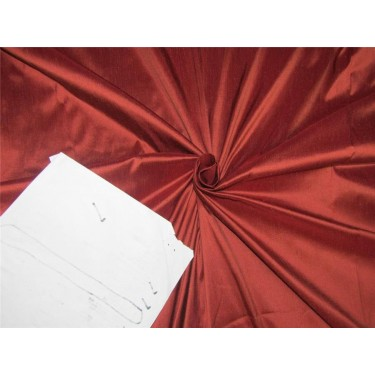 "100% pure silk dupioni fabric rust color 54"" DUP#D[1]"