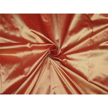 "100% pure silk dupioni fabric red x gold shot color 54"" DUP#C[6]"