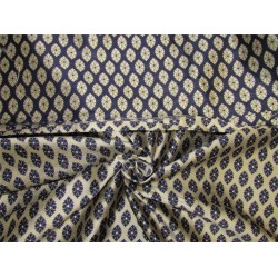 Reversible Brocade fabric navy x antique gold color 44'' wide bro629[1]